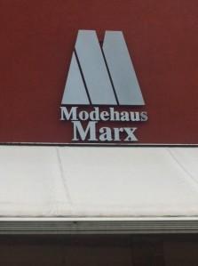 Marx fashion branding in Trier