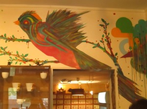 Quetzal mural in La Cafeotheque, Paris