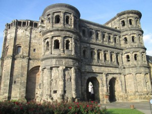 The Porta Nigra Roman gate into Trier
