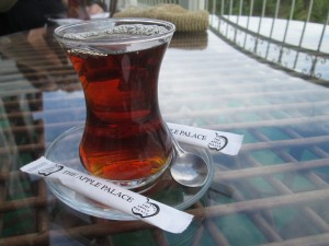 Tea at the Apple Palace Hotel in Amasya