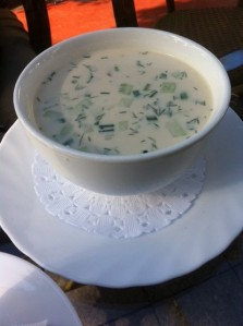 Cold soup in Batumi, Georgia