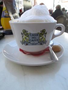 Cappuccino at Casa del Caffe in Trier