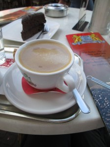 Normal coffee and Sacher Torte in Trier