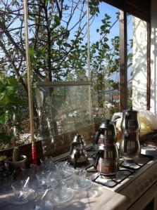 View from the kitchen at Efe Pansyon in Safranbolu