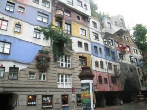 Hundertwasser building in Vienna