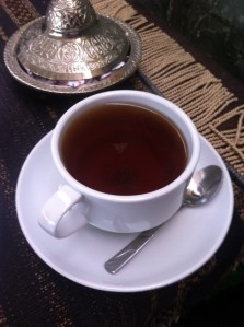 Big cup of tea in Ehl-i Keyf Cafe in Trabzon