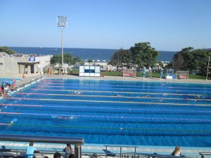Open air pool in Varna by the Black Sea