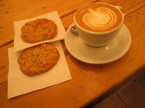 Coffee and cookies at Kaffee Modul in Vienna