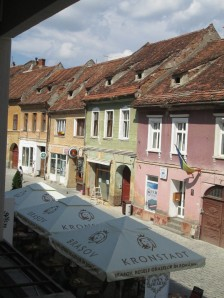 View from Open Heart Tea Lounge in Brasov
