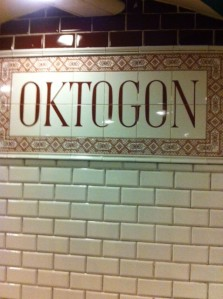 Tiling at Oktogon station in Budapest