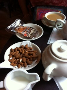 Tea and almonds in Budapest