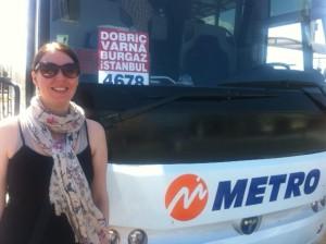 Metro Turizm bus from Varna to Istanbul