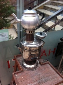 Tea making in our Amasya hotel