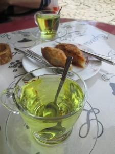Saffron Tea with baklava