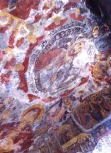 Frescoes at Sumela Monastery in Turkey