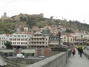 Bridge to old town Tbilisi