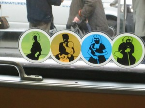 Priority seating on Viennese trams