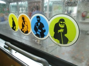 Priority seats on Viennese trams