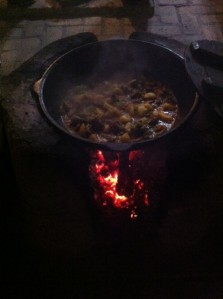 Dinner simmering in Bukhara