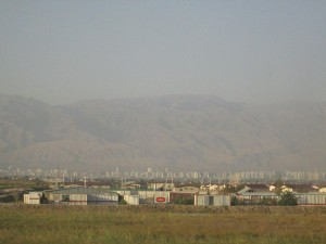Ashgabat in the distance