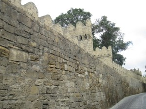 Old Baku city walls