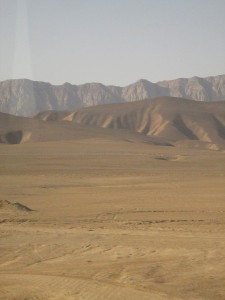 Desert near the Iran/Turkmenistan border