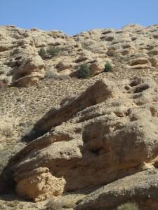Craggy desert hills in Iran