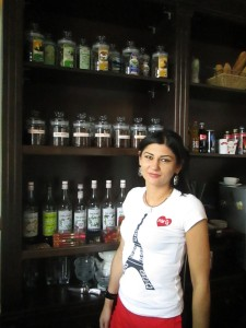 Evelina barista at La France coffee shop in Vladikavkaz
