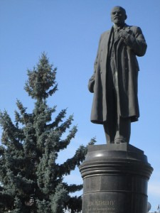 Lenin looks over Vladikavkaz