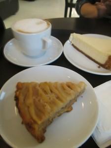 Cake and coffee in Baku at Baku Roasting Company