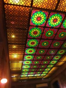 Ceiling of tea room in Baku