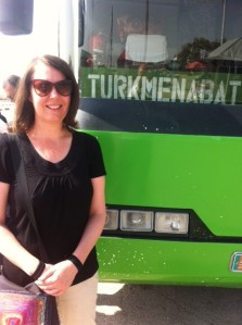 Bus from Ashgabat to Mary and Turkmenabat