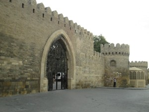 The walls of old Baku