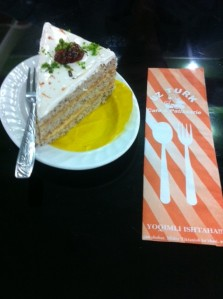 Good cake at Turkish cafe in Andijon