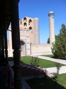 The view from Art Cafe in Samarkand
