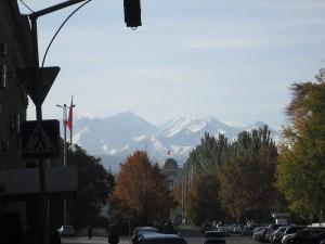 Mountain views in Bishkek