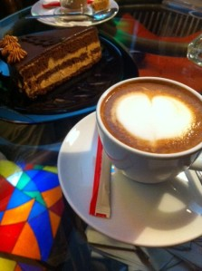 Coffee and cake in Bishkek