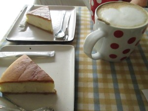 Coffee and cake in Chengdu at Corner Coffee