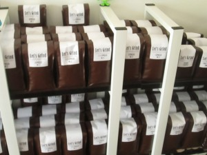 Lots of coffees roasted by Let's Grind in Chengdu