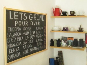 Let's Grind menu in Chengdu