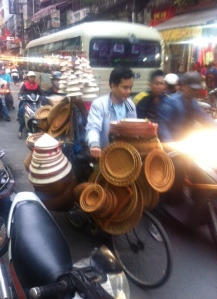 Laden by bike in Hanoi