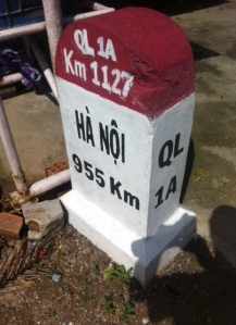French road stone in Vietnam