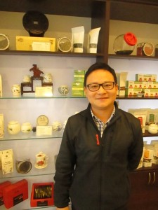 Panda Tea Shop's owner Deng