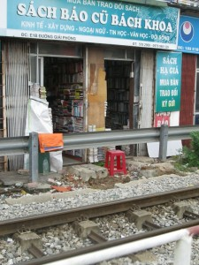 Railway bookshop in Hanoi
