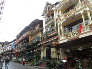 Colonial buildings in Sapa