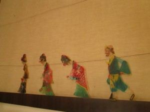 Shadow puppets at Folk House in Xi'an