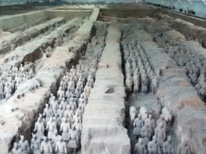 Terracotta warriors near Xian