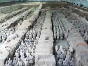 Terracotta warriors near Xian
