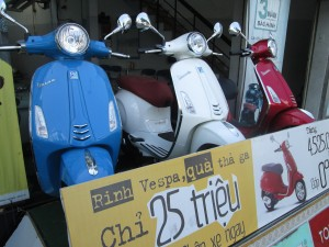 Vespas in Vietnam