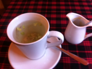 Citronella tea in Sapa with local honey at Baguette & Chocolat